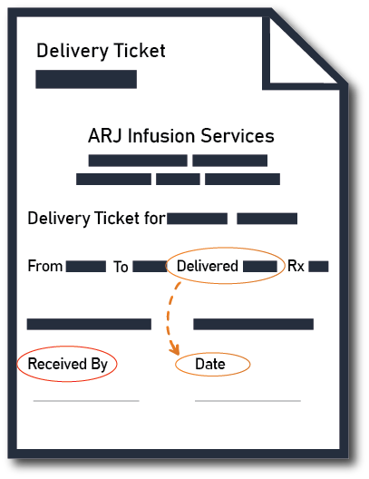 Delivery Ticket ARJ Infusion Services
